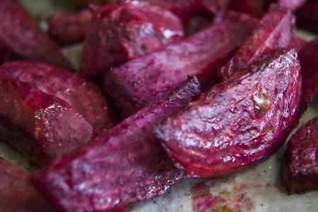 Roasted beet and quinoa salad.