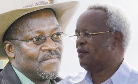 CCM candidate John Magufuli and Ukawa coalition candidate Edward Lowassa. Photo illustration.