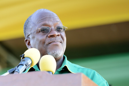 John Magufuli at a rally in October. Photo: Daniel Hayduk