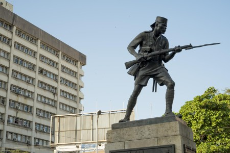 The bronze Askari monument in a file photo. Photo: Daniel Hayduk