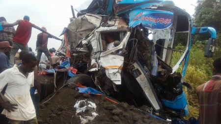 Eleven people are dead and over 20 injured after a head-on crash in Tanga region on Thursday morning. Photo: Facebook