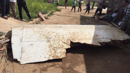 Wreckage has washed ashore on Pemba which may be from missing airplane MH370. Photo: social media